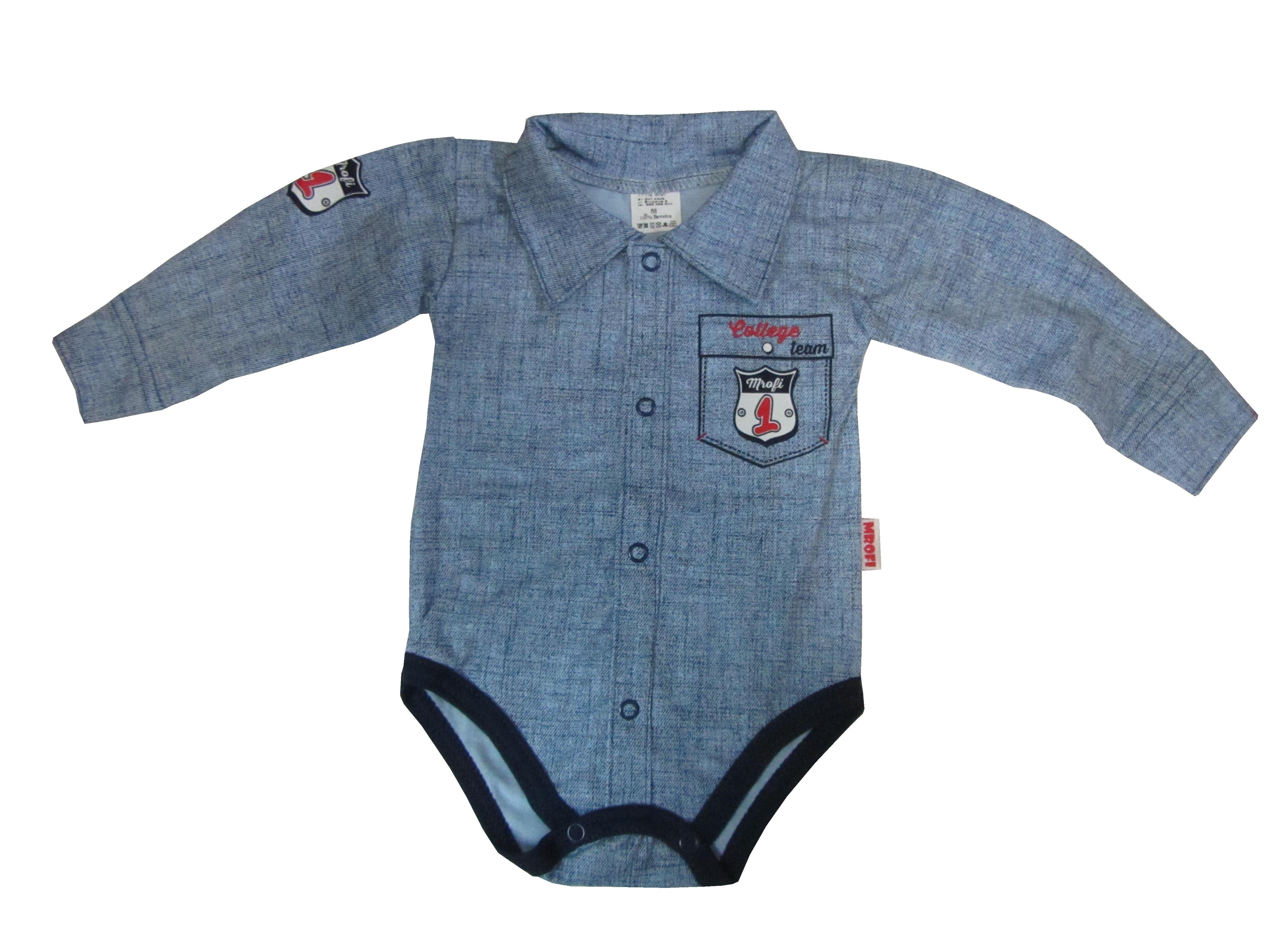 ae3e4923e Riflová košeľa body dlhý rukáv