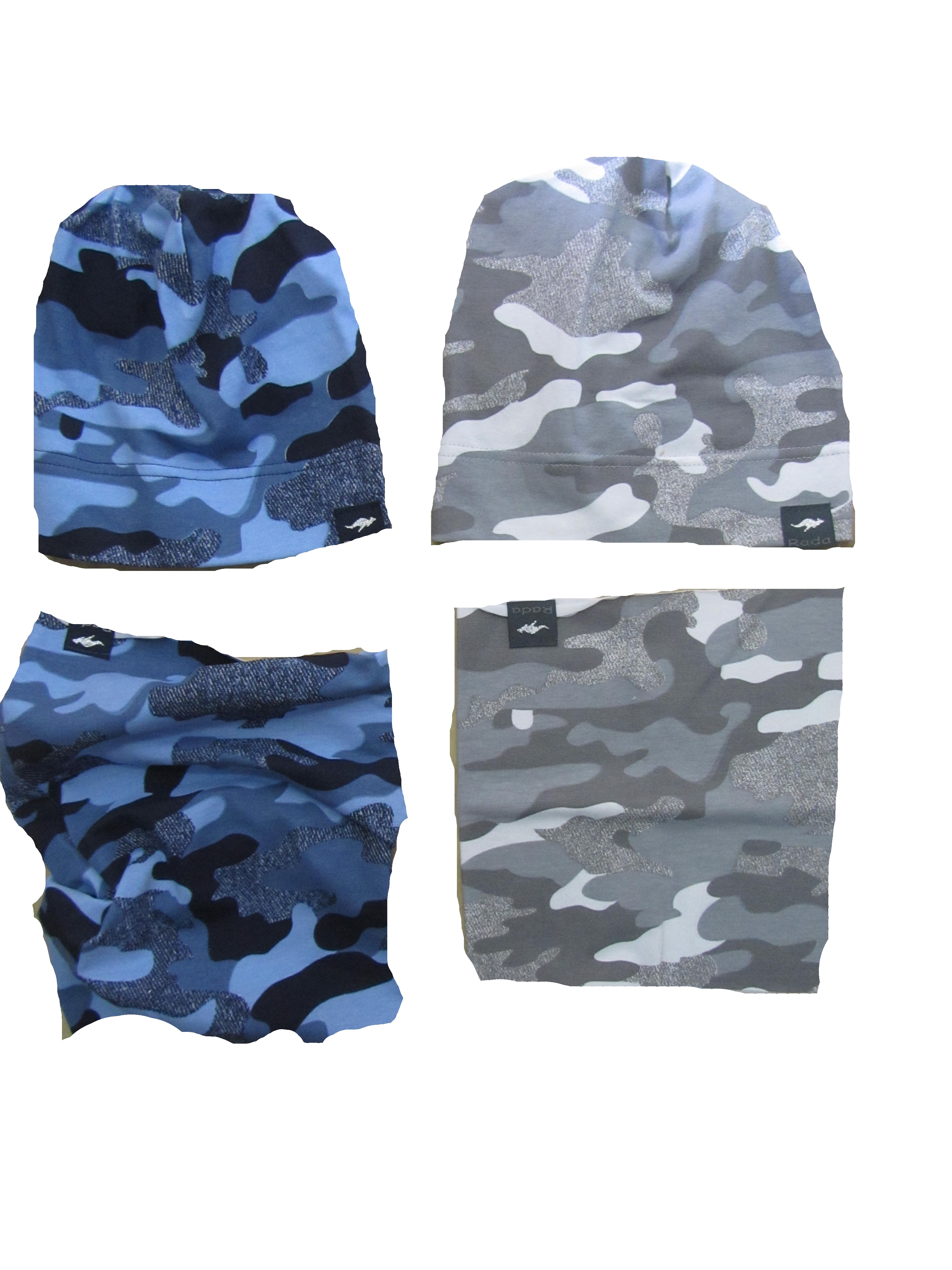 ee5151fce Maskáčová čiapka modrá , mierne predĺžená empty
